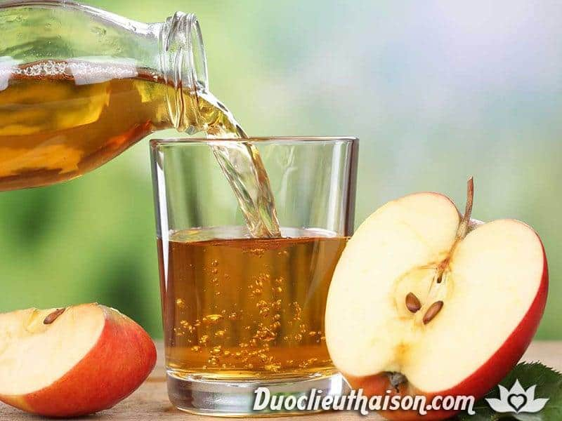 Giấm táo có hiệu quả trong việc giảm nhanh các triệu chứng u xơ tử cung