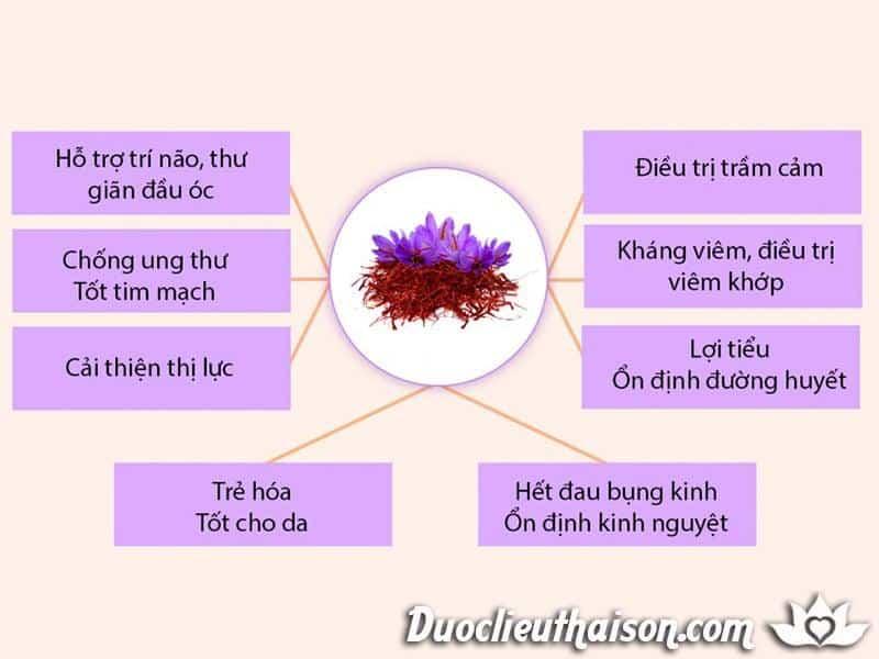Công dụng của nhụy hoa nghệ tây (saffron)